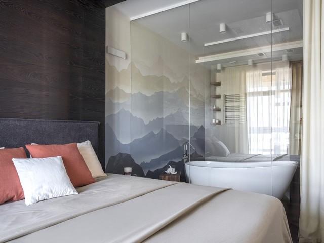 Спальные мотивы ванной комнаты